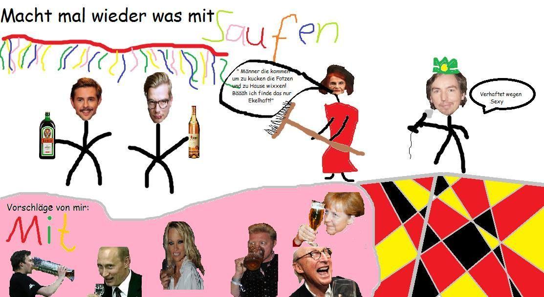 Was Schönes mit was mit Saufen von Alexander Hänle.