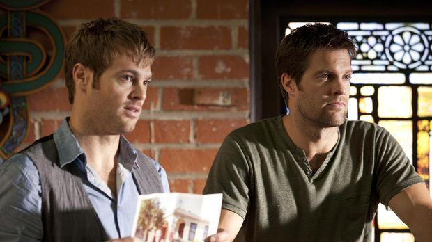 Walter (Geoff Stults, r.) bekommt einen Auftrag von seinem Bruder Langston (G...