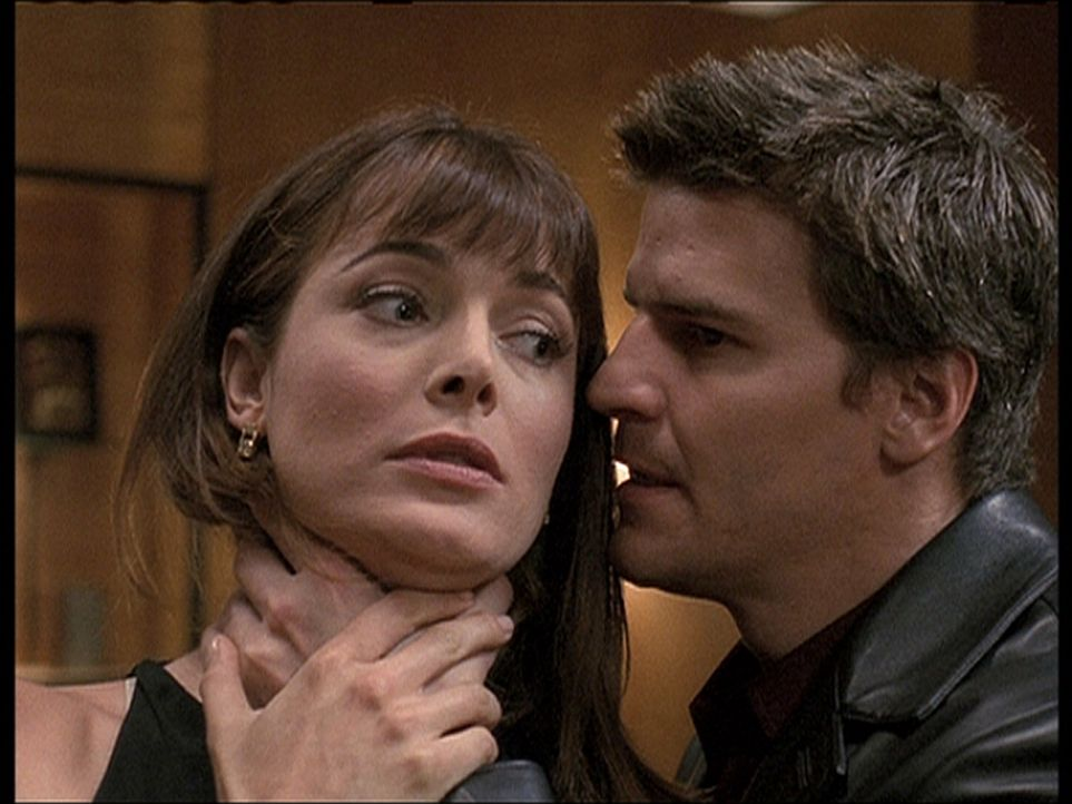 Angel (David Boreanaz, r.) lässt sich die Erpressungsversuche von Lilah (Stephanie Romanov, l.) nicht gefallen ... - Bildquelle: 20th Century Fox. All Rights Reserved.