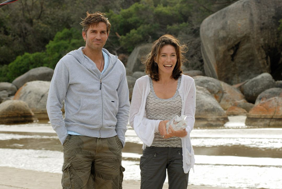 Hoffen, dass der Campingausflug ihrer Ehe gut tut: Doch für Peter (James Caviezel, l.) und Carla (Claudia Karvan, r.) beginnt ein gnadenloser Kampf... - Bildquelle: Arclight Films