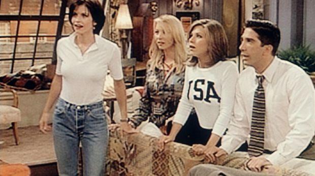 Phoebes (Lisa Kudrow, 2.v.l.) Ehemann ist aufgetaucht. Sehr zum Erstaunen von...