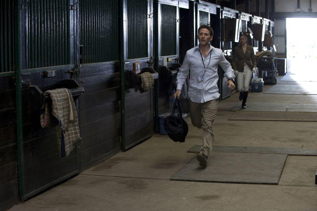 Dr. Hank Lawson (Mark Feuerstein) wird zu einem Reitturnier gerufen, weil eine Teilnehmerin sich plötzlich übergeben musste und vom Pferd gestürzt i... - Bildquelle: Universal Studios