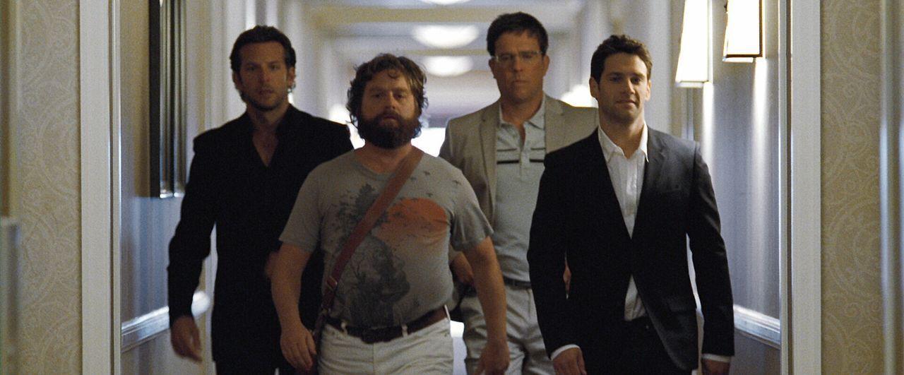 Bevor Doug (Justin Bartha, r.) in den Hafen der Ehe einfährt, will er noch einmal so richtig einen draufmachen und fährt deshalb mit seinen Kumpel... - Bildquelle: Warner Brothers