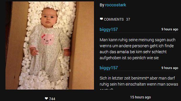 Schnappschuss-Amelia-14-01-16-Instagram - Bildquelle: Instagram/Rocco Stark