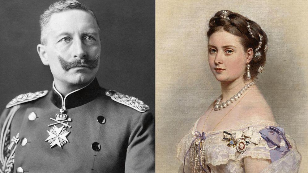 Prinzessin Vicky und ihr Sohn Wilhelm II.
