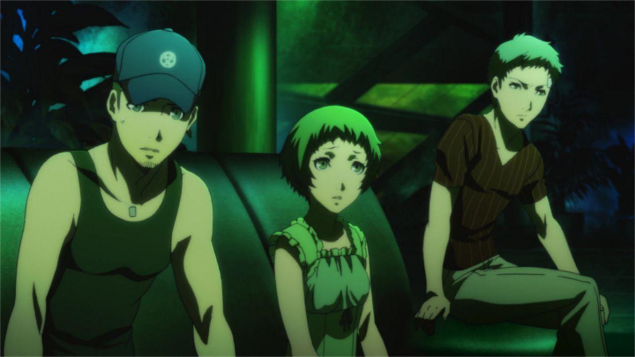 (v.l.n.r.)  Junpei Iori; Fuka Yamagishi; Akihiko Sanada - Bildquelle: ATLUS   SEGA/PERSONA3 the Movie Committee