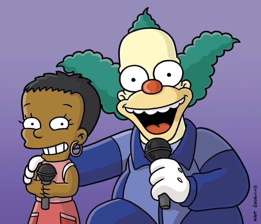 Beim Gesangswettbewerb: Lisa (l.) und Krusty (r.) ... - Bildquelle: und TM Twentieth Century Fox Film Corporation - Alle Rechte vorbehalten