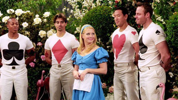 Sabrina (Melissa Joan Hart, M.) ist im Wunderland, um ein Geheimnis zu lüften...