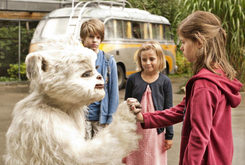 Als Pia (Jamie Bick, r.) die Situation zu brenzlig wird, weiht sie ihre Schwester Marcella (Lilly Reulein, M.) und ihren besten Freund Lukas (Friedr... - Bildquelle: Sony Pictures