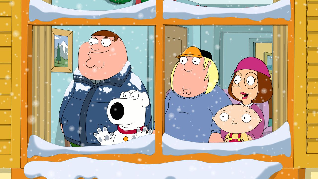 Die Griffins freuen sich, dass es endlich schneit. Peter (l.) hat schon eine Idee, wie er den ersten Schnee der Jahreszeit am besten auskosten kann... - Bildquelle: 2016-2017 Fox and its related entities.  All rights reserved.