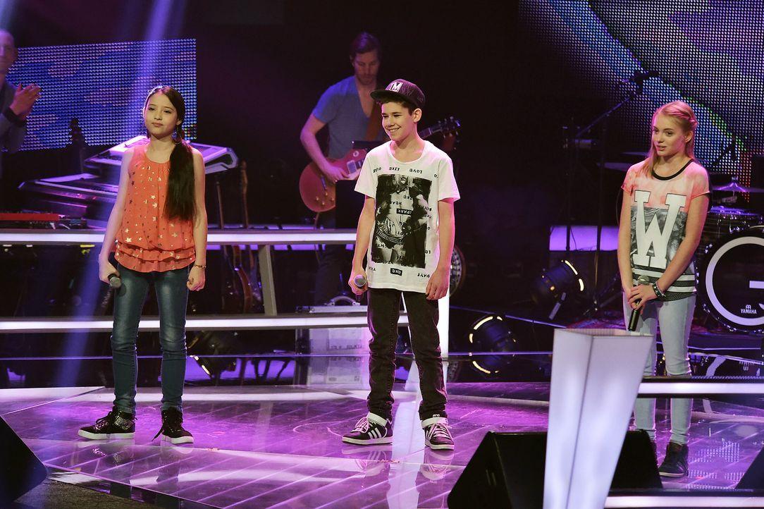 The-Voice-Kids-Stf03-Epi06-Auftritte-01-SAT1-Alina-Lukas-S-Joana-Andre-Kowalski - Bildquelle: SAT.1/Andre Kowalski