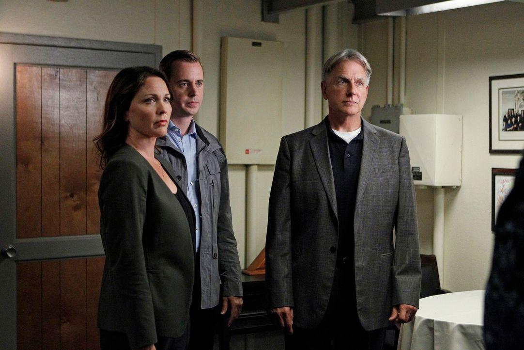 Die Aussage von Special Agent Maureen Cabot (Kelli Williams, l.) bringt McGee (Sean Murray, l. ) und Gibbs (Mark Harmon, r.) einen entscheidenden Sc... - Bildquelle: CBS Television