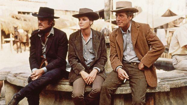 Fliehen gemeinsam nach Bolivien: Butch Cassidy (Paul Newman, r.), Sundance Ki...