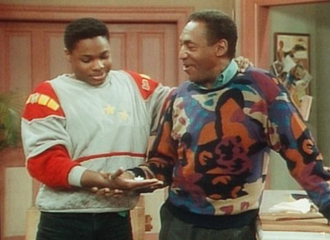 Bill Cosby Show - Theo (Malcolm-Jamal Warner, l.) ist verwundert, weil Cliff...