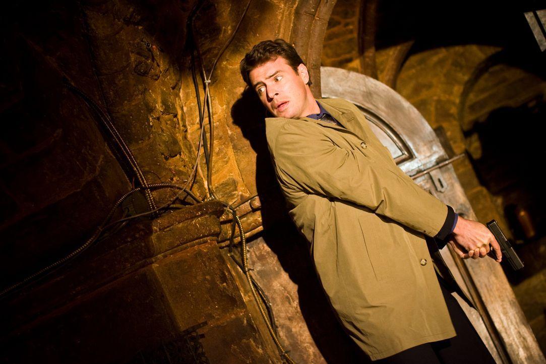 Jagt einen unsichtbaren Mörder, der die letzten Tempelritter ins Jenseits befördert: FBI-Agent Sean Daley (Scott Foley) ... - Bildquelle: 2008 Templar Productions (Muse) Inc. All Rights Reserved