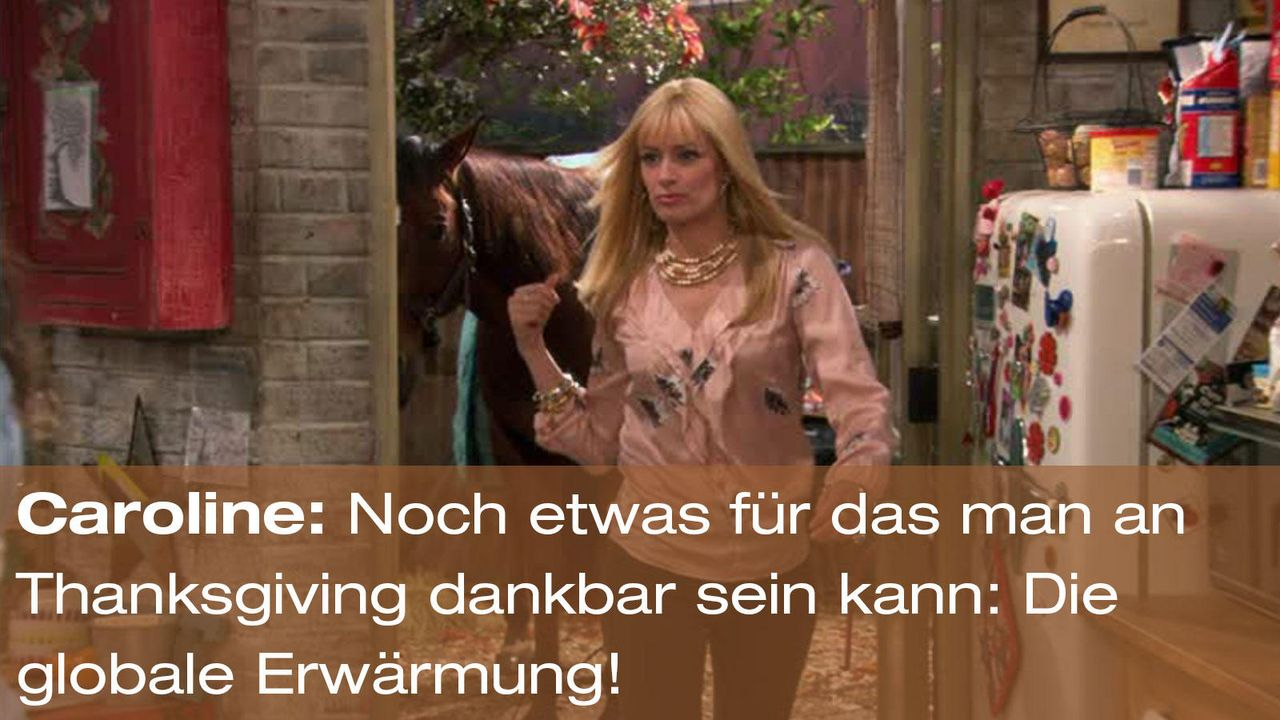 2-broke-girls-episode-12-elfen-terror-zitat-caroline-globale-erwaermungjpg 1600 x 900 - Bildquelle: Warner Brothers Entertainment Inc.