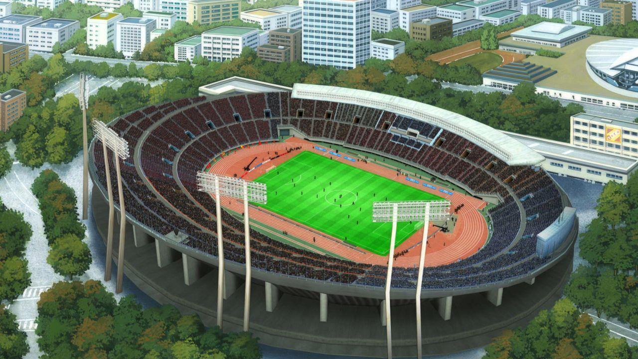 Der Täter plant, die riesige Anzeigetafel über der vollen Zuschauertribüne im Fußballstadion in die Luft zu jagen. Kann Conan die Katastrophe noch r... - Bildquelle: GOSHO AOYAMA / DETECTIVE CONAN COMMITTEE
