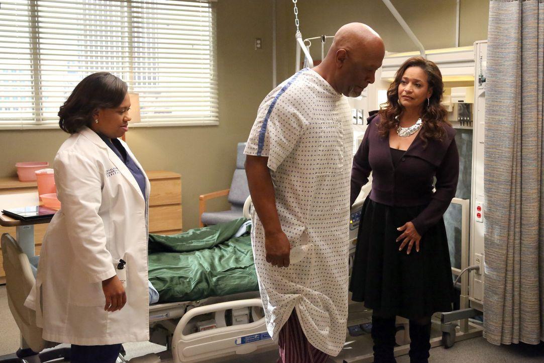 Auch Bailey (Chandra Wilson, l.) sorgt sich um den schlechten Zustand von Dr. Webber (James Pickens Jr.,M.). Catherine (Debbie Allen, r.) will ihn m... - Bildquelle: ABC Studios