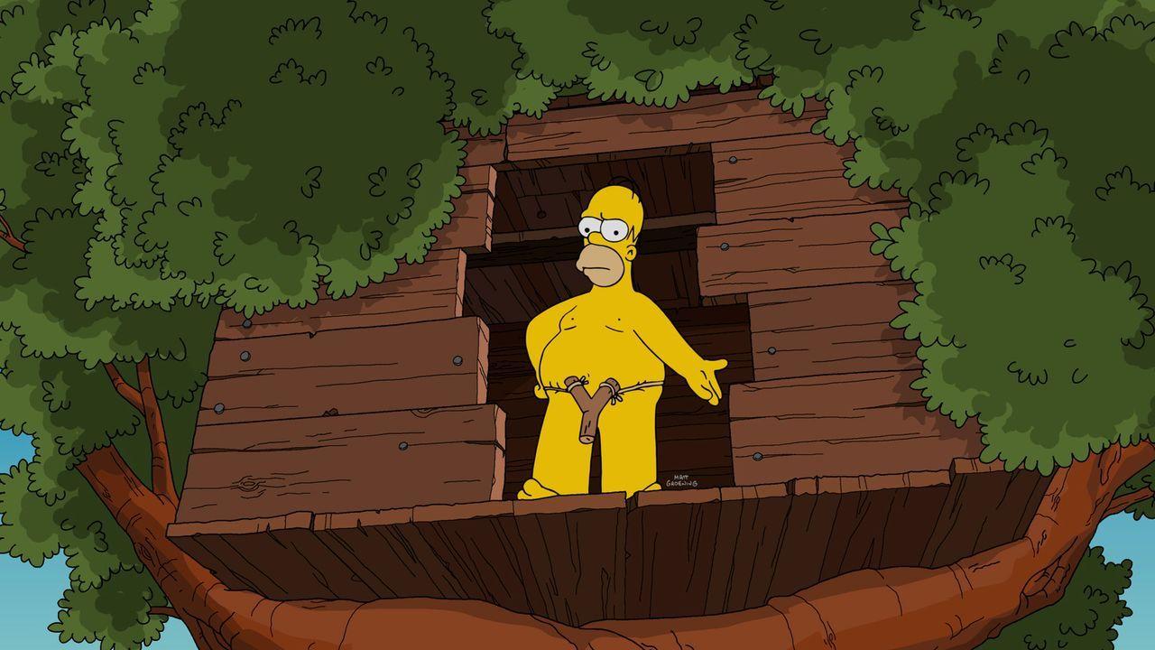 Als die Kinder im Kamp Krustier untergebracht sind, hat Homer (Foto) vor allem eines vor: Endlich mal wieder eine heiße Nacht mit seiner Frau Marge... - Bildquelle: 2016-2017 Fox and its related entities. All rights reserved.