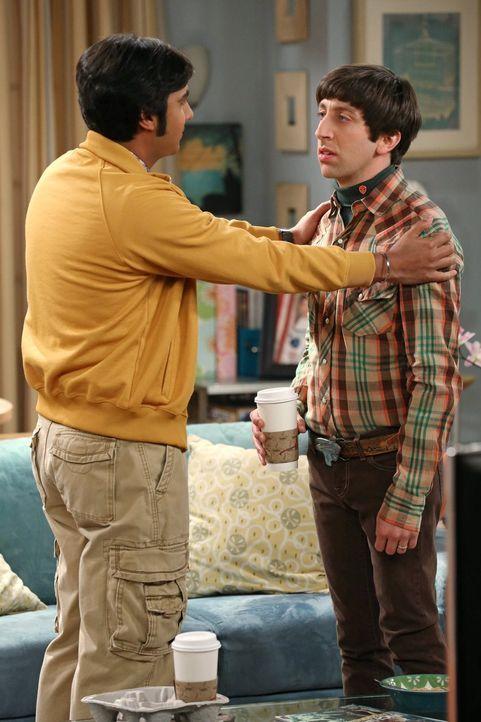 Während Sheldon damit zurecht kommen muss, dass seine wissenschaftliche Entdeckung nur Zufall war, beherbergen Bernadette und Howard (Simon Helberg,... - Bildquelle: Warner Brothers