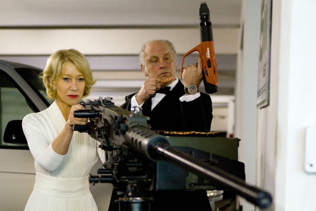 Wissen sich zu wehren: Vicoria (Helen Mirren) und Marvin Boggs (John Malkovich)... - Bildquelle: 2010 Concorde Filmverleih GmbH