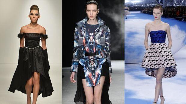 Vokuhila-Kleider sind der neue Mode-Trend! Die Kleider sind vorne kurz, hinte...