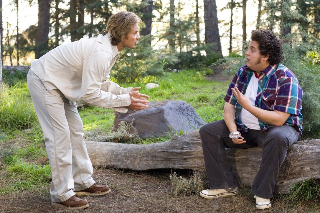 """""""Strange Wilderness""""-Moderator Peter (Steve Zahn, l.) hat immer Ärger mit seinem faulen Mitarbeiter Lynn Cooker (Jonah Hill, r.) ... - Bildquelle: Paramount Pictures"""