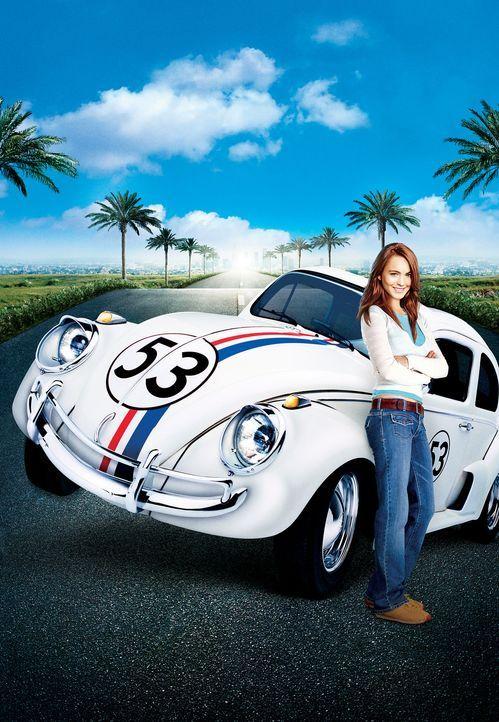 Ein Wahnsinns Team: Maggie Peyton (Lindsay Lohan, r.) und Herbie ... - Bildquelle: Walt Disney Pictures