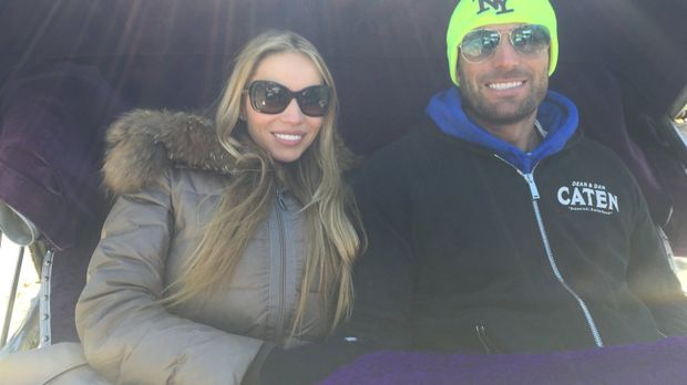 Auf einem Roadtrip durch die USA: Unternehmer Bastian Yotta (r.) und Freundin...