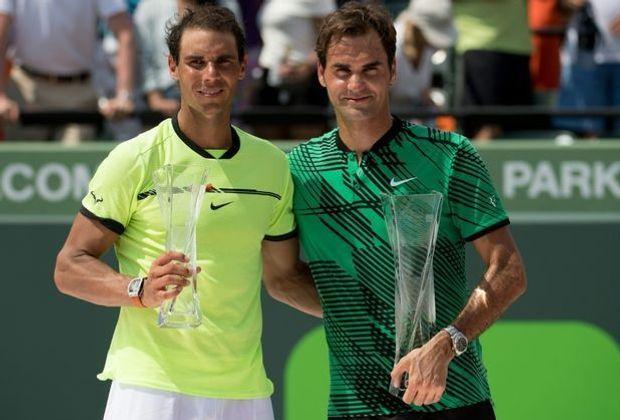 """""""Absolut gigantisch"""": Federer lobt Nadal (v.r.)"""