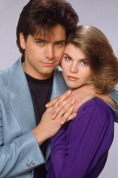 Full House - (3. Staffel) - Jesse (John Stamos, l.) und Becky (Lori Loughlin,...