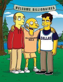 Die Simpsons - Mr. Burns (M.) gewinnt bei einem Pokerspiel das Basketball-Tea...