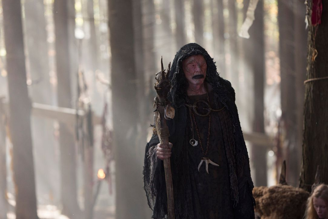 Als Athelstan vom Seher (John Kavanagh) gerufen wird, ahnt er nicht, dass dies sein Todesurteil ist ... - Bildquelle: 2013 TM TELEVISION PRODUCTIONS LIMITED/T5 VIKINGS PRODUCTIONS INC. ALL RIGHTS RESERVED.