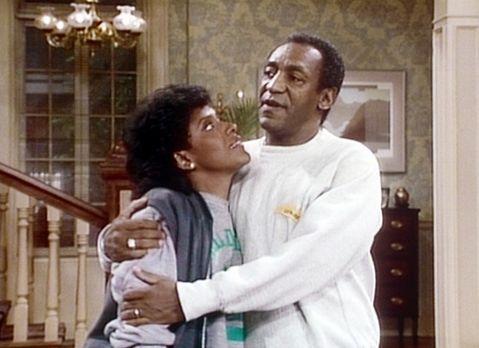 Bill Cosby Show - Clair (Phylicia Rashad, l.) und Cliff (Bill Cosby, r.) stel...