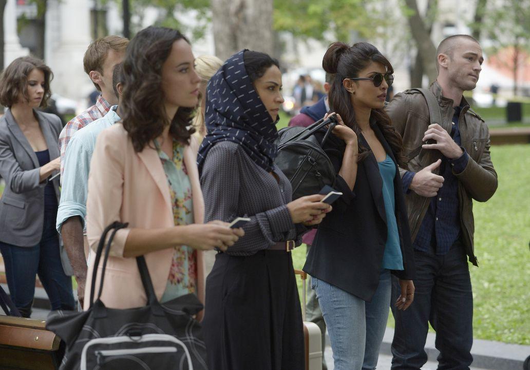 Müssen sich bei ihrem ersten Undercover-Einsatz beweisen: Alex (Priyanka Chopra, 2.v.r.), Ryan (Jake McLaughlin, r.) und Nimah (Yasmine Al Massri, 2... - Bildquelle: 2015 ABC Studios