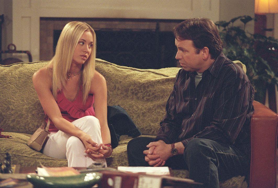 Unglücklicherweise verliert Bridget (Kaley Cuoco, l.) ihr Herz an Pauls (John Ritter, r.) Arbeitskollegen Kyle. Da kann auch der Papa nicht helfen... - Bildquelle: ABC, Inc.