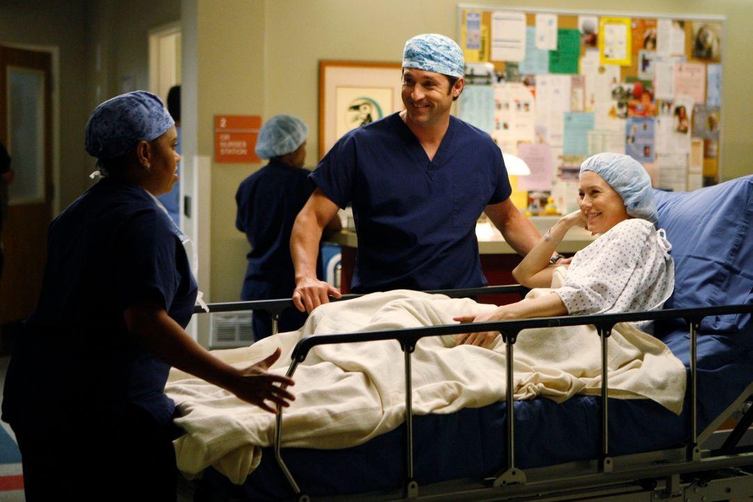 Nachdem Meredith (Ellen Pompeo, r.) lange mit sich gerungen hat, spendet sie ihrem Vater ein Stück ihrer Leber. Derek (Patrick Dempsey, M.) bleibt d... - Bildquelle: Touchstone Television