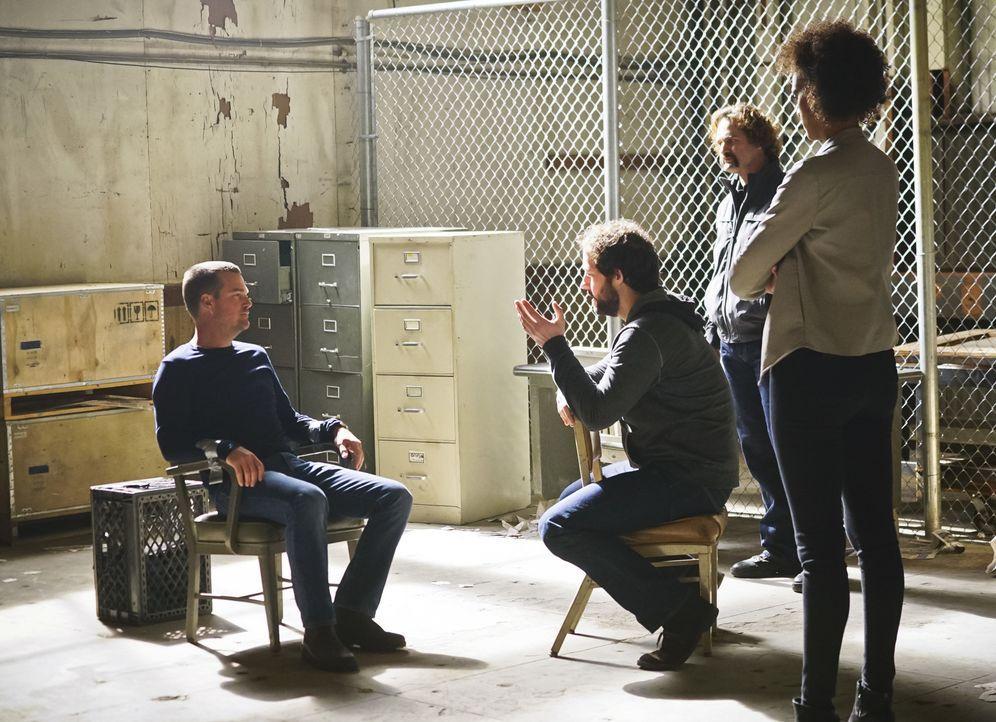 Da Psychologe Nate (Peter Cambor, 2.v.l.) sich während einer Undercover-Mission nicht bei Hetty meldet, erfährt das Team, dass dieser anscheinend mi... - Bildquelle: Monty Brinton 2016 CBS Broadcasting, Inc. All Rights Reserved.