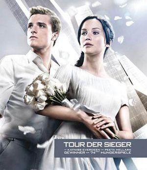 """Katniss und Peeta auf dem brandneuen """"Catching Fire""""- Plakat"""