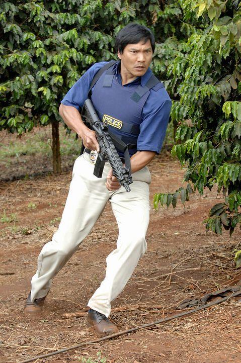 Der Polizist Kaleo (Jason Scott Lee), ein Kollege von Meka, unterstützt das Team bei der Aufklärung des Mords an Meka. Doch dabei geht einiges sch... - Bildquelle: TM &   2010 CBS Studios Inc. All Rights Reserved.