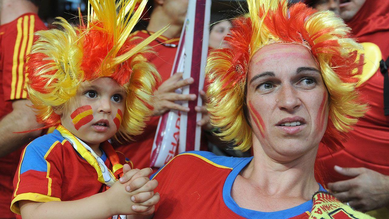 WM-Brasilien - Spanien-Fan - Bildquelle: dpa