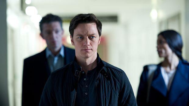 Noch ahnt Simon (James McAvoy, M.) nicht, dass ihn sowohl Gangsterboss Franck...