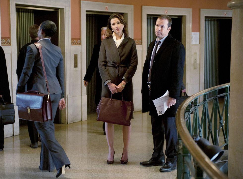 Schaffen es Erin (Bridget Moynahan, l.) und ihr Bruder Danny (Donnie Wahlberg, r.) nach den Ereignissen im Gerichtssal, wieder miteinander klarzukom... - Bildquelle: Jojo Whilden 2011 CBS Broadcasting Inc. All Rights Reserved
