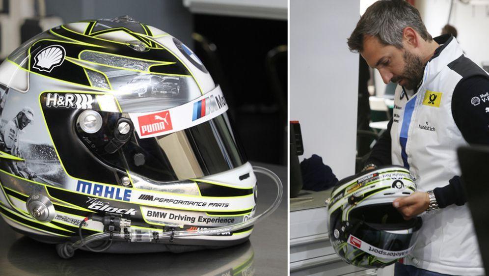 Der versteigerte Helm von Timo Glock war eine Sonderanfertigung für das Renn... - Bildquelle: getty