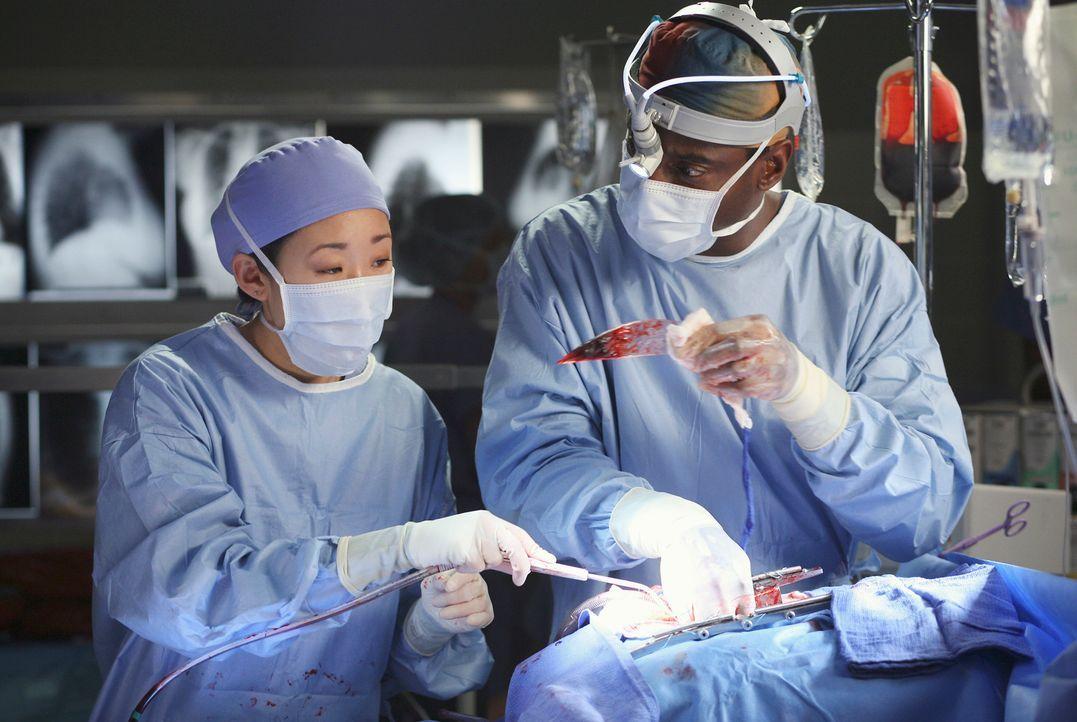 Gemeinsam sind sie ein Team und können Burkes Problem gut vertuschen: Burke (Isaiah Washington, r.) und Cristina (Sandra Oh, l.) ... - Bildquelle: Touchstone Television