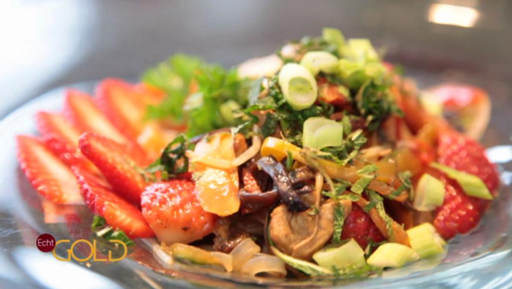 Erdbeersalat Asiatischer Art