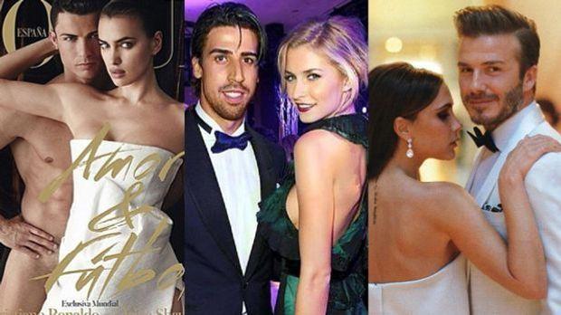 Cristiano Ronaldo und Irina Shayk, Lena Gercke und Sami Khedira, Victoria und...