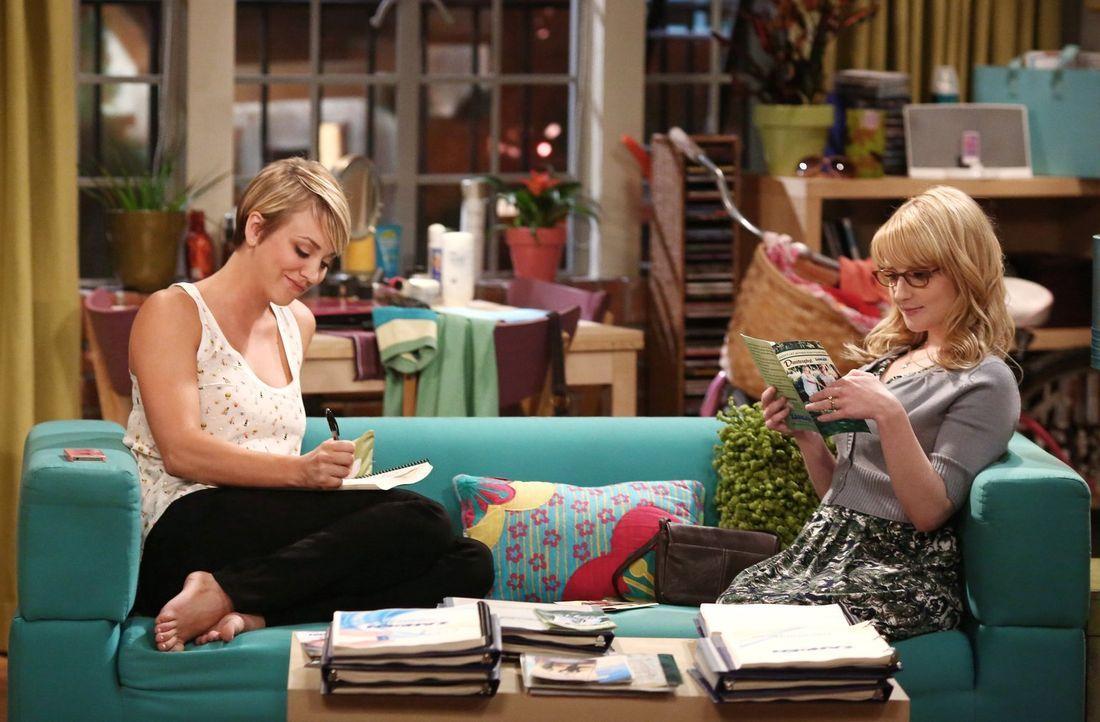 Geraten in Streit, weil Bernadette (Melissa Rauch, r.) sich sorgt, dass Penny (Kaley Cuoco, l.) in ihrem neuen Job nicht gut genug sein könnte ... - Bildquelle: Warner Brothers