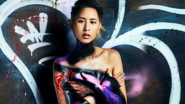 Originale Sexy Graffiti-Shooting - Germanys next Topmodel