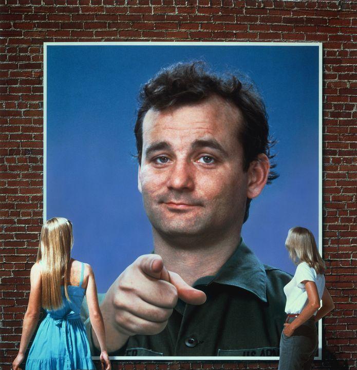 Als John Winger (Bill Murray, M.) seinen Job, sein Appartment und seine Freundin verliert - alles an einem Tag! - beschließt er, sich freiwillig be... - Bildquelle: Columbia Tri-Star